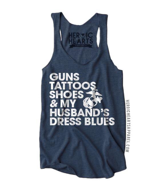 Guns Tattoos Shoes Shirt - Marine Corps - Heroic Hearts Apparel
