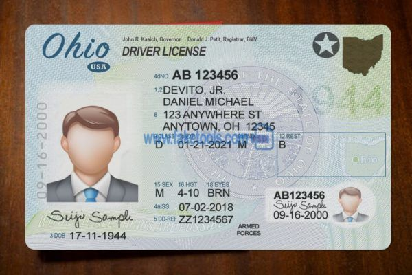 Ohio Driver License Psd Template High Quality Psd Template Drivers License Professional Templates Driver License Online