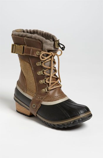 More tricked out than a pair of Bean boots and more rugged than your average pair of Timberlands, these are the winter boots I will be adding to my holiday wish list. Sorel 'Conquest Carly Short' Boot | Nordstrom