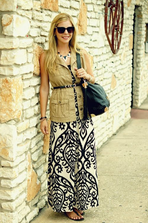 3 Ways to Wear a Maxi Dress in the Fall - Photo by: Courtesy of Because Shanna Said So http://www.womenshealthmag.com/style/fall-maxi-dress