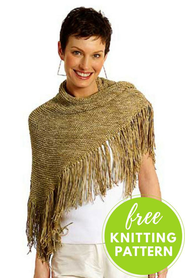 "Oakley Easy Shawl Free Knitting Pattern  Perfect for knitters of all skill levels, this easy shawl works up fast and  features Berroco Suede yarn.  Skill Level: Easy  Completed Shawl Measures: 46"" wide x 25"" long, not including fringe  You will need:       * 6 balls Berroco Sued"