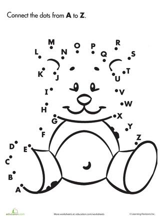 Dot to Dot A to Z Teddy Bear