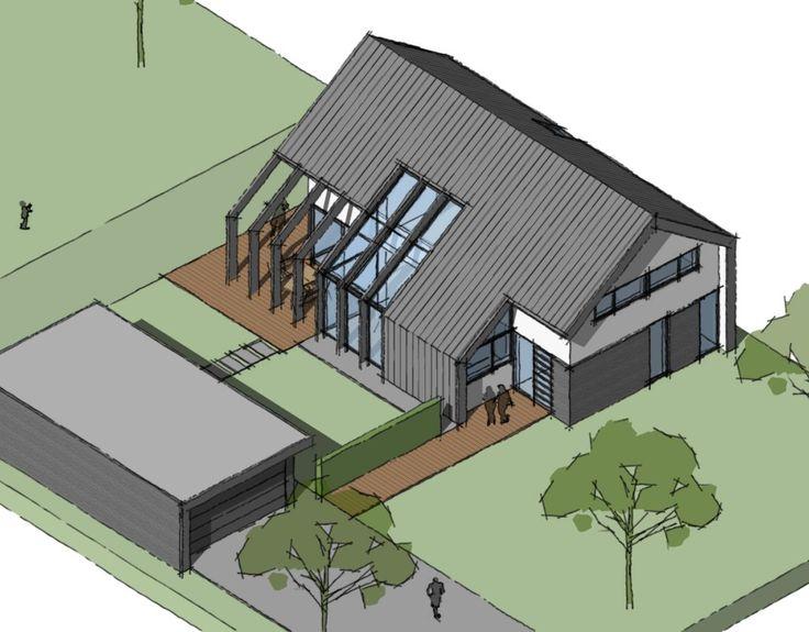 Een passiefhuis ontwerp wat fris is vomgegeven en voldoet aan de normen van het passiefhuis. Energiebesparen op een duurzame manier daar streven wij naar.