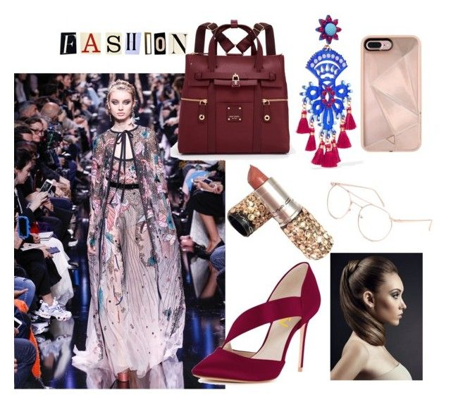 club print by sweetdollanjali on Polyvore featuring polyvore fashion style Henri Bendel Mercedes Salazar Rebecca Minkoff Blue Crown Elie Saab clothing
