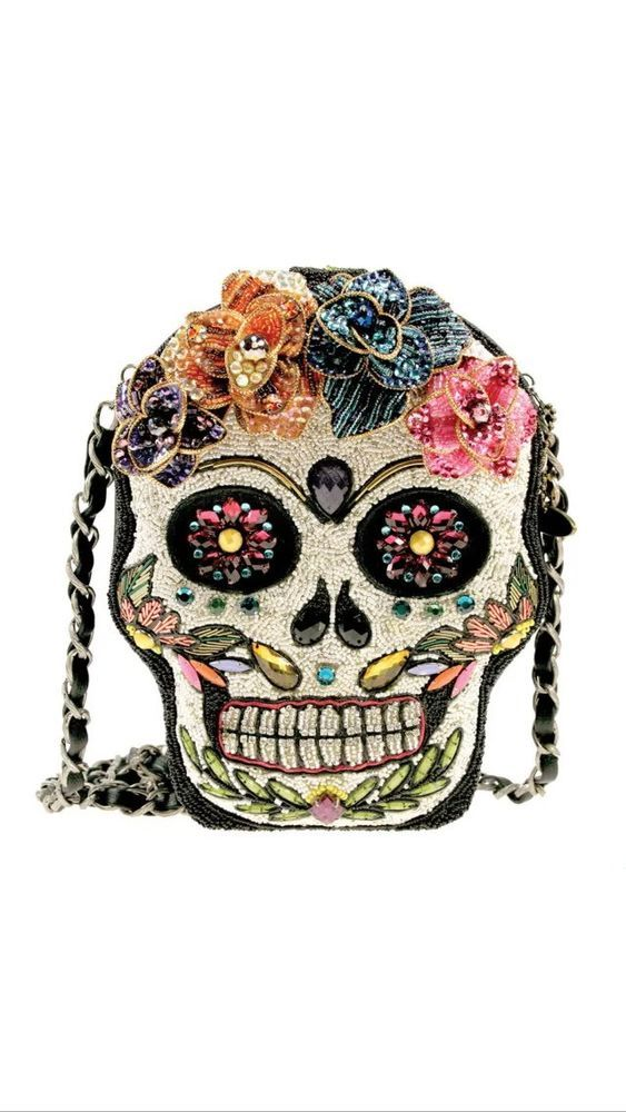 Mary Frances Sugar Rush Day of The Dead Flower Beaded New Handbag Purse Bag New | eBay