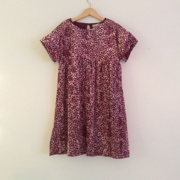 ZARA velvet floral baby doll dress 2 layers wintery dress in plum pink and Maroon floral velvet baby doll style Zara girls 11-12 would fit women's XXS as a dress and XS as a very short dress or even top Zara Dresses