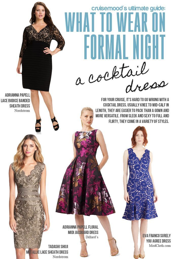 What to Wear on Formal Night: Cocktail Dresses - A guide about what to wear on your cruise for formal night!