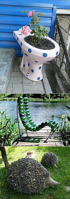 Во саду ли, в огороде... Веселые идеи для сада-огорода.