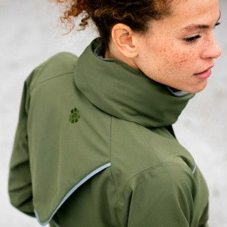 As Bold As Women's Cycling Drench Coat - Olive Green