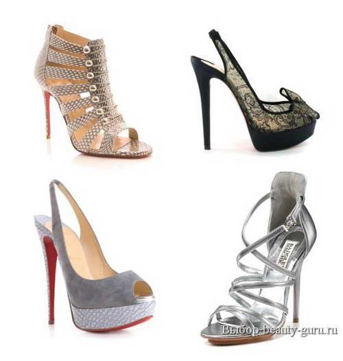 Вечерние туфли и босоножки