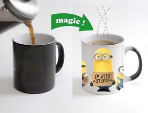 Minions Despicable me Color Changing Magic Heat sensitive Tea Cup Coffee Mug