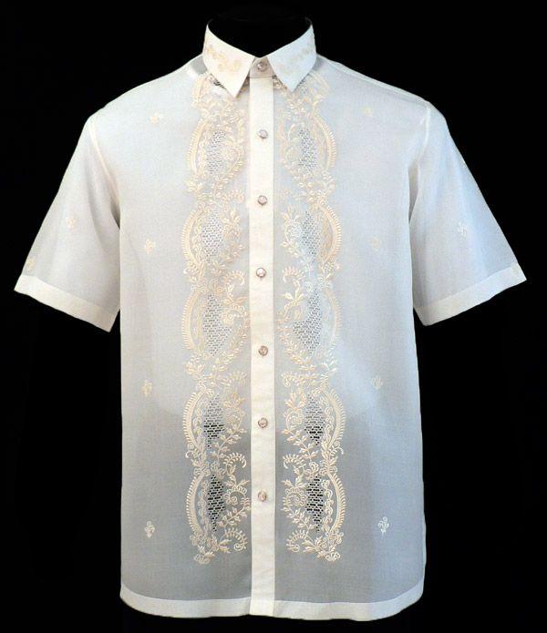 Short sleeves barong tagalog 1050 for Barong tagalog wedding dress