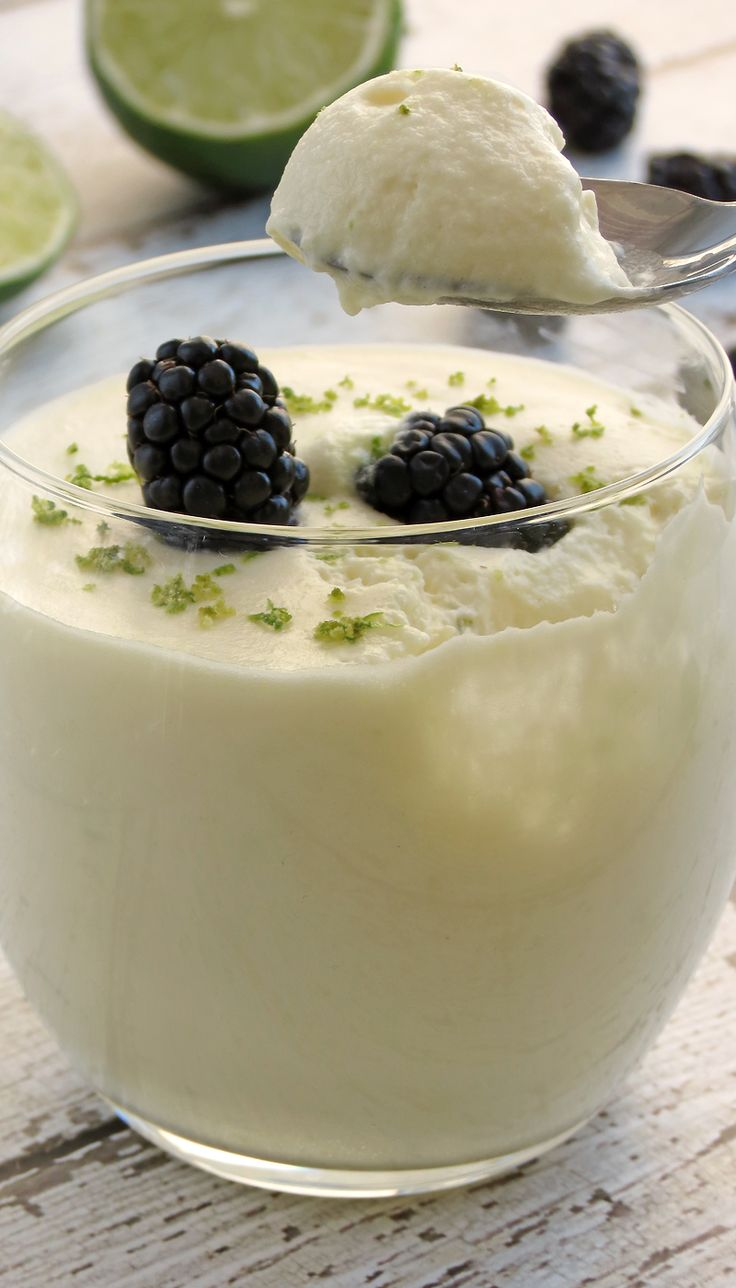Lime White Chocolate Mousse | YummyAddiction.com