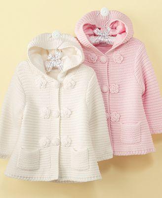 Jacket First Impressions Baby, Baby Meninas Sweater Jacket