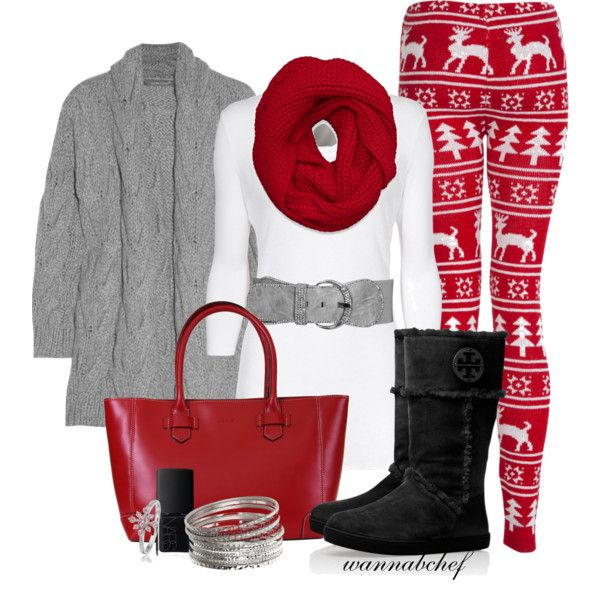 Red Winter Leggings - Loooove this! Not sure I'm ready to wear something like this out of the house yet!