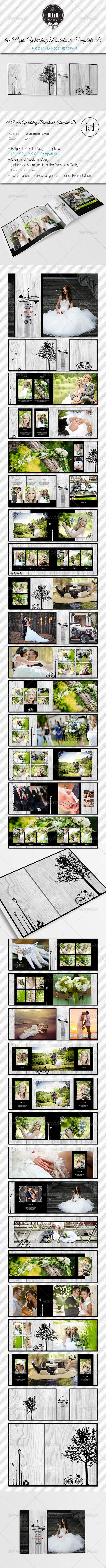 60 Pages Wedding PhotobookTemplate Be