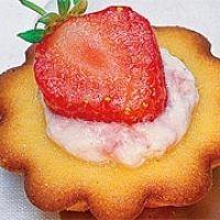 Zitronentörtchen mit Erdbeerquark
