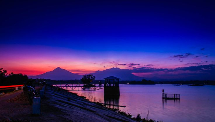 This sunset was taken on Cengklik Dam, Boyolali Indonesia