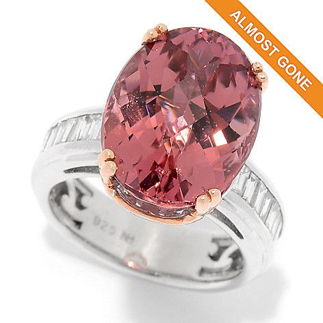 169-455 - Gems en Vogue  One-of-a-Kind  9.96ctw Pink  Tourmaline &  Diamond Ring