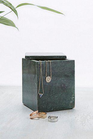 Grande boîte à bijoux en marbre vert