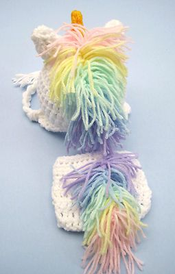 Unicorn Baby Hat and Diaper Cover - figure out how to make