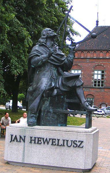 Jan Heweliusz Monument in Gdansk