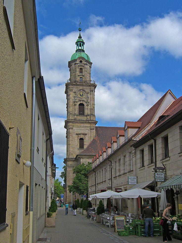Erlangen/Bayern, Turm der Neustädter Kirche