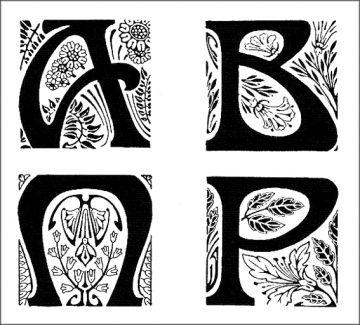 Lettrines Art Nouveau. http://jpdubs.hautetfort.com/archive/2006/10/16/la-lettrine-a-travers-l-histoire1.html