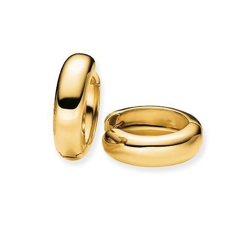 Gouden klapcreolen Gold | Juwelier Goudsmid Ooms