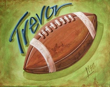 Trevor Hand Painted Canvas