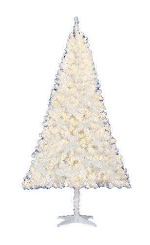 6.5 Ft White Artificial Christmas Tree Pre Lit 400 Clear Lights Holiday Decor #65FtWhiteArtificialChristmasTree #Christmas