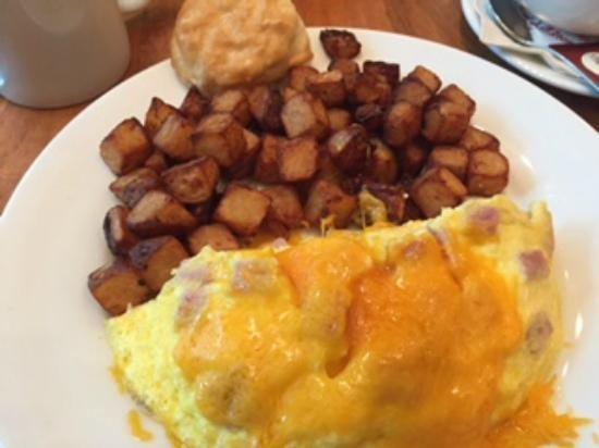 Ham and Cheese Omelet with Home-fried Potatoes   $13.00