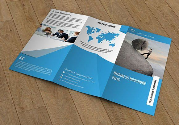 Trifold brochure template-V55 by Template Shop on Creative Market