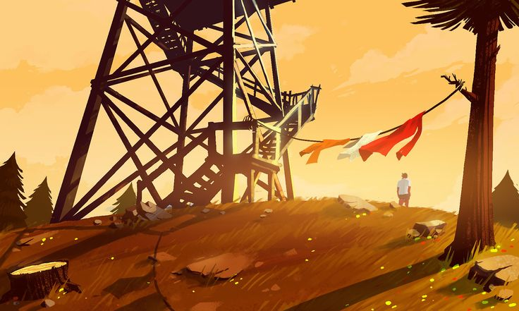 Firewatch Concept Art – Olly Moss – Exceptional Video Game Art