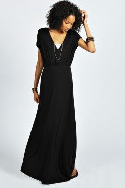 Niomi V Neck Bagged Over Maxi Dress - Robes - Vêtements Femme