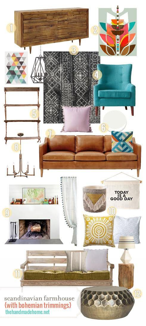 a scandinavian farmhouse with bohemian trimmings - pulling together multiple styles for a living area with major flair.