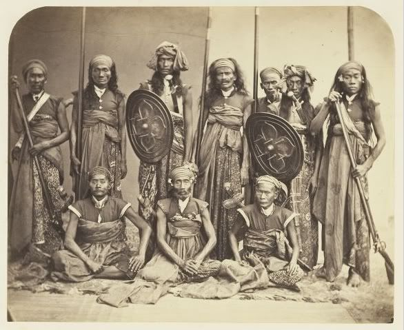 Indonesia, Lombok ~ Sasak people ~ 1865 ~ The Sasak people live mainly on the island of Lombok, Indonesia, numbering around 3.6 million (85% of Lombok's population). They are related to the Balinese in language and race, although the Sasak are predominantly Muslim while the Balinese are Hindu.