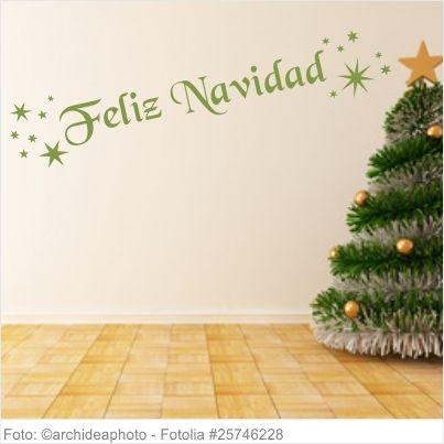 Wandtattoo - Frohe Weihnachten Spanisch