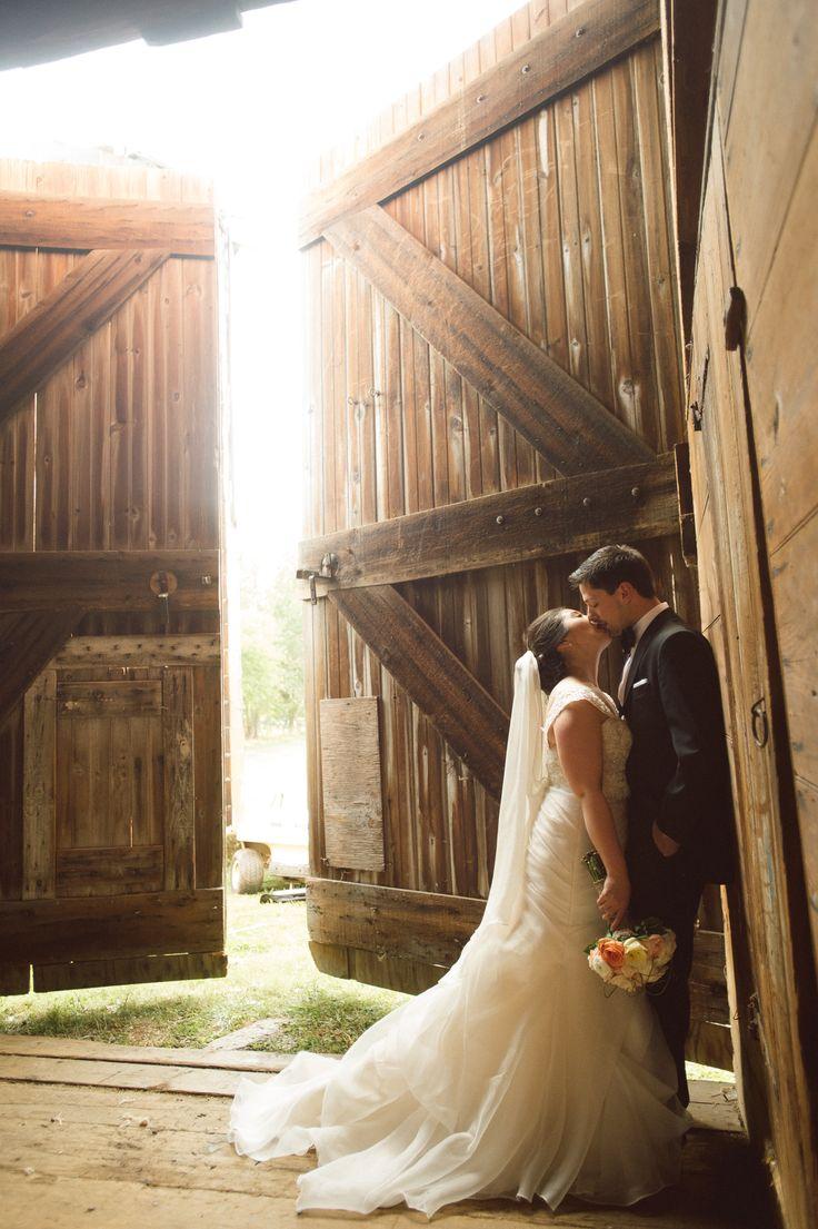 Bride and Groom at the Barn at Normandy Farm
