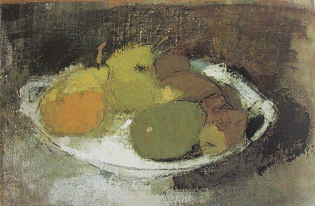 Helene Schjerfbeck「Still Life in Green」(c.1930)