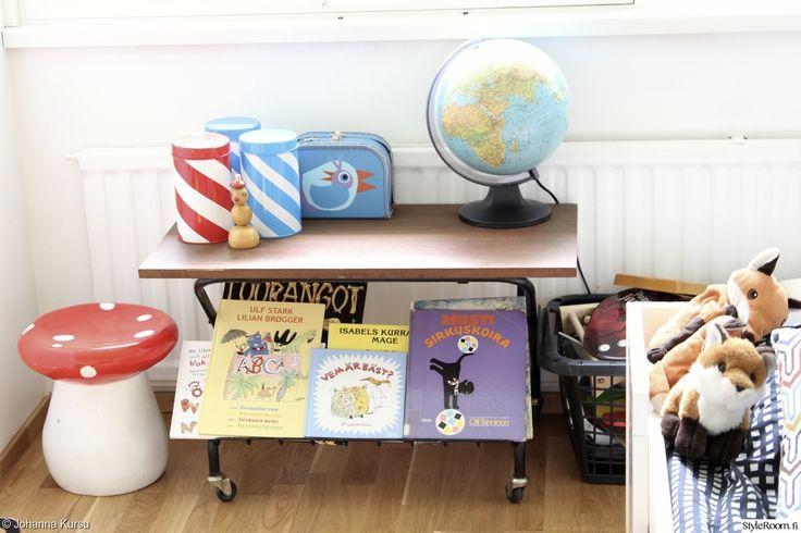 """Jäsenen """"JohannaKoo"""" lastenhuoneesta löytyy liuta sukupuolvelta toiselle periytyviä klassikoita, kuten sienijakkara! #styleroom #inspiroivakoti #lastenhuone #retro #sienijakkara"""