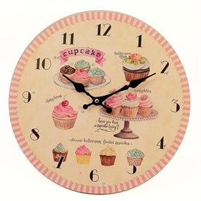 Reloj de pared cupcakes varios at home pinterest clocks - Reloj decorativo de pared ...