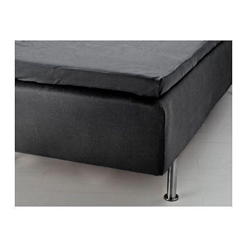 IKEA - OXEL, Cache-sommier, 90x200 cm, , Idéal pour dormir, car le jersey de coton est doux au toucher et absorbe l'humidité pour un sommeil au sec.Il est plus facile de faire le lit et d'obtenir une surface lisse car le drap housse est fait dans un tissu souple et doté d'élastique.Housse avec élastique pour sommiers de 35cm d'épaisseur maximum.Protège le lit de la poussière et des taches.Convient également comme drap housse.