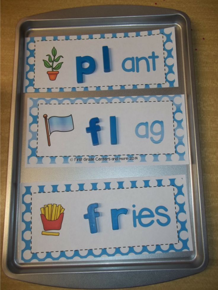 Great for a word work center.  60 word building cards for working on beginning l, r, and s blends. $