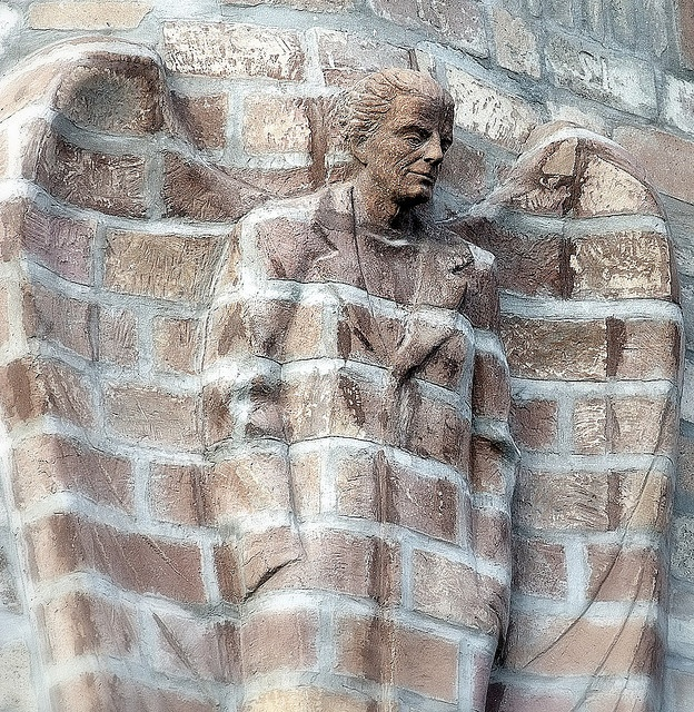 In Szolnok, Hungary, a representation of Dr.Kálmán Laki, a doctor in Hungary and later a member of the Academy of Sciences in Washington, DC. Photo by IceCreamFromHell (flickr).