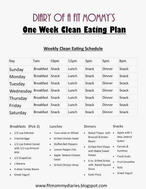 Clean Eating Schedule
