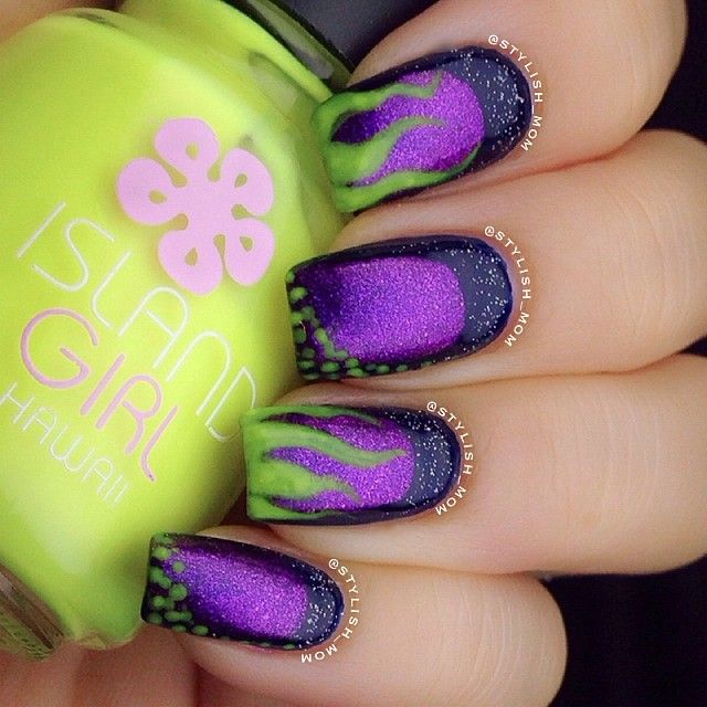 {Nails} ✨ MALEFICENT INSPIRED NAILS ✨ #nails #manicure #nailart