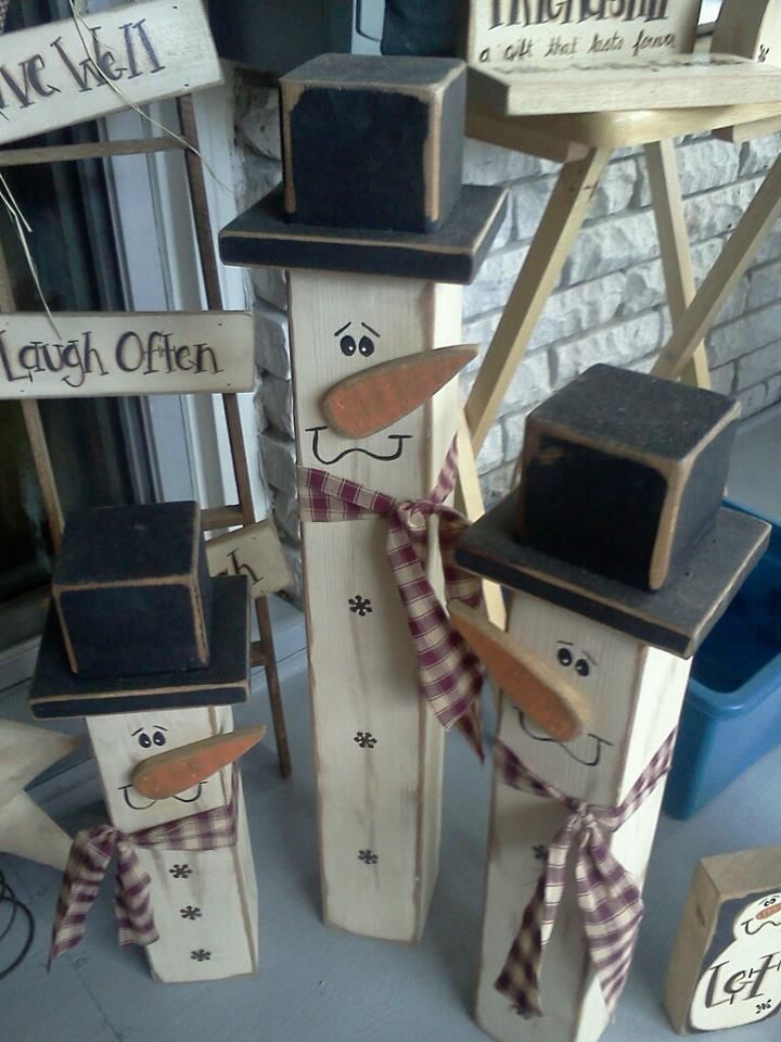 25 best 4x4 wood crafts ideas on pinterest - How to make a snowman out of wood planks ...