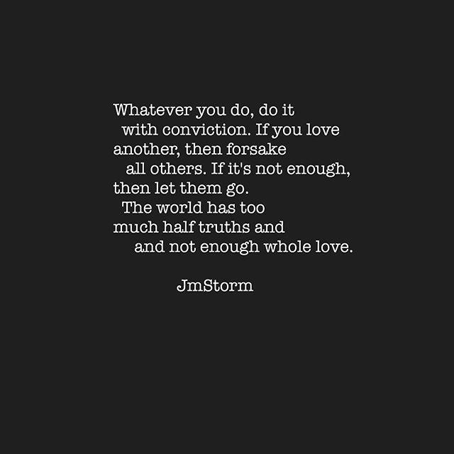 Not enough whole love...