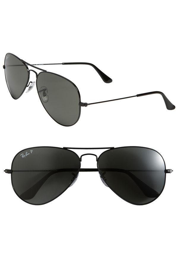 Polarized Original Aviator 58mm Sunglasses Black